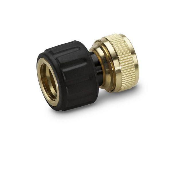 "Watering range Brass hose connector 1/2"" and 5/8"" with Aqua Stop"
