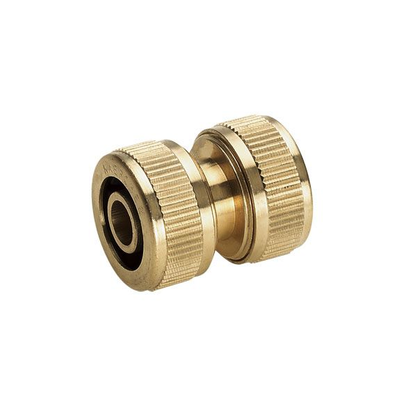 "Watering range Brass hose repair connector 1/2"", 5/8"""