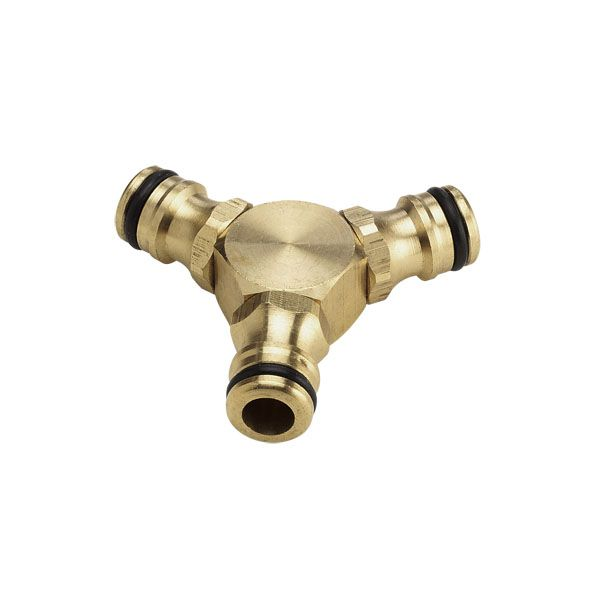 Watering range Three-way brass connector