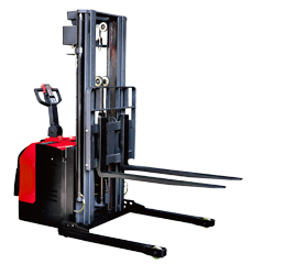 Electric Stacker with Adjustable Wide Leg