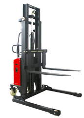 Semi-electric Stacker with Adjustable Fork-1