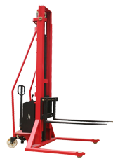 Semi-electric Stacker with Adjustable Fork-2