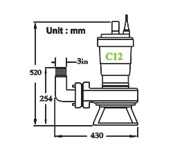 نقشه ابعاد لجن کش C12