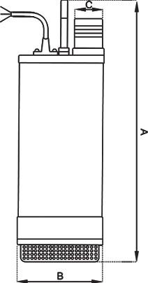 نقشه ابعاد پمپ کف کش SP SP1